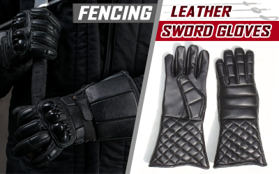 Fencing Leather Sword Hema Gloves
