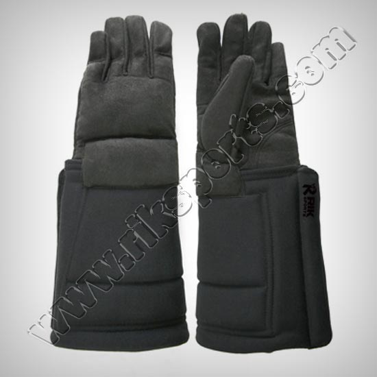 Fencing Coaching Gloves Black