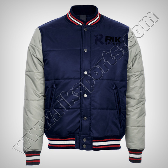 Men Satin Baseball Jackets