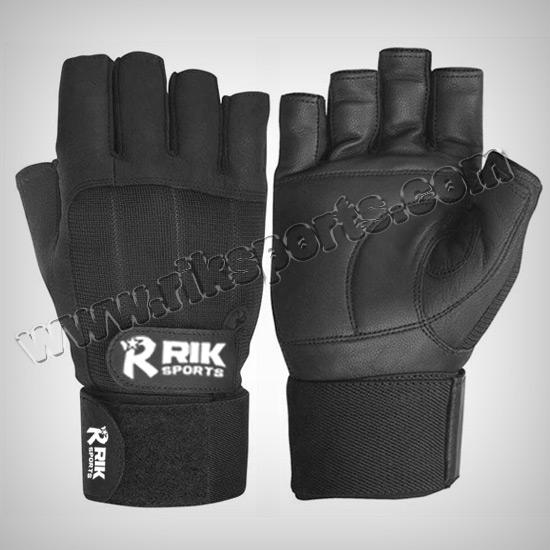 Black Fitness Gym Gloves