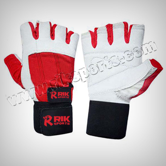 Leather Weightlifting Fitness Gloves